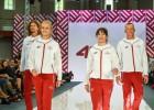 Foto: Samoilovs, Šmēdiņš, Latiševa-Čudare un Grigorjeva rāda Rio tērpus