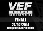 """""""VEF Rīgas Skolu superlīgas"""" čempioni tiks noskaidroti jau rīt"""