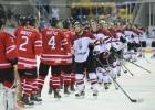 Latvija atspēlē divus vārtus, tomēr universiādes 1/4 finālā zaudē Kanādai