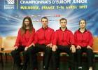 Latvijas izlase uzsāk Eiropas čempionātu badmintonā junioriem