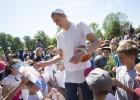 Video: Liepājā atklāts otrais Porziņģa basketbola laukums