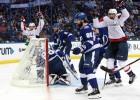 """""""Capitals"""" iemet četrus pēc kārtas un Austrumu finālu sāk ar uzvaru pār """"Lightning"""""""