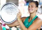 Šogad strauji progresējusī Sabaļenka Ņūheivenā svin pirmo WTA titulu