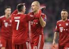 """Robenam, Levandovskim pa diviem vārtiem pret """"Benfica"""", """"Real"""" Romā garantē pirmo vietu grupā"""