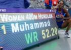 Muhameda ASV čempionātā pārspēj pasaules rekordu 400 metru barjerskrējienā