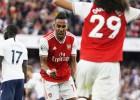 """""""Arsenal"""" atspēlē divu vārtu deficītu un cīnās neizšķirti Ziemeļlondonas derbijā"""