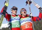 Vīru komandu sprintā zelts norvēģiem