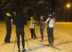 Olimpisko spēļu dalībnieks Kristaps Lībietis māca slēpot Mežaparkā