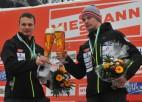 M.Dukurs kļūst par trīskārtēju Eiropas čempionu, Tomass otrais