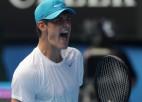 Tomiks izaicina Federeru, centrālajā kortā arī lietuvietis Beraņķis