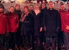 Kā uz paplātes: Sportisti priecājas par Latvijas jubileju