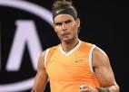 """Nadals sagrauj Cicipu, sasniedz piekto """"Australian Open"""" finālu"""