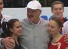 """Video: Lukašenko: """"Drosmīgākie cilvēki ir daiļslidotāji, nevis hokejisti"""""""