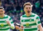 """Glāzgovas """"Celtic"""" izrauj uzvaru lielajā derbijā un praktiski nodrošina čempiones titulu"""