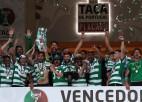 """""""Porto"""" izglābjas pagarinājuma izskaņā, tomēr pendelēs Portugāles kausu iegūst """"Sporting"""""""