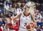 Elīnai 22 punkti, Latvijai otrā pārliecinošākā uzvara kvalifikācijā
