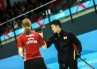 Zaudējumi liedz juniorēm turpināt cīņu par jaukto pāru kērlinga turnīra medaļām