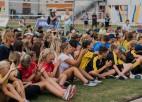 15. Vasaras spēlēs volejbolā bērniem un jauniešiem uzvar sešu dažādu sporta skolu komandas