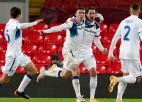 """""""Atalanta"""" viesos piecu minūšu laikā salauž Anglijas čempioni """"Liverpool"""""""