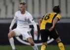 Cigaņiks palīdz gūt uzvaras vārtus pret AEK, Vārdijs pēdējā minūtē izglābj Lesteru