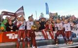 Foto: Melbārža četrinieks pirmoreiz triumfē pasaules čempionātā
