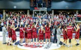 Foto: Latvija iespaidīgā cīņā pārspēj Lietuvu