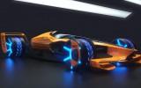 """Foto: """"McLaren"""" fantāzija par 2050. gada F1 sacīkšu mašīnu"""