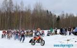 Foto: Latvijas čempionāta skijoringā un ziemas motokrosā 1.posms