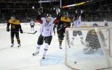 Foto: Latvijas hokeja izlase 3:4 spēlē piekāpjas Vācijai