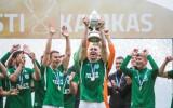 """""""Flora"""" astoto reizi iegūst Igaunijas kausu futbolā"""