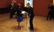 Video: Saeimas spīkere tiekas ar Latvijas olimpiešiem