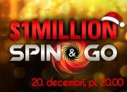 IELŪGUMS! 20.decembrī $1M Spin&Go Freeroll tikai LATVIJAS spēlētājiem