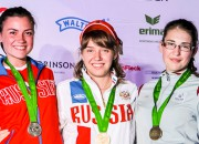 Šāvēja Rašmane izcīna bronzas medaļu PK juniorēm