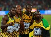 Bolts un Jamaika triumfē sprinta stafetē, Ķīnai sudrabs