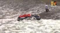 Okeāns <i>aprij</i> Dakaras rallija dalībnieka mašīnu
