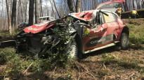Mīke pēc smagas avārijas iznīcina savu automašīnu
