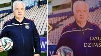 """LFF trenera Beškareva apsveikumā no foto izdzēš """"Skonto"""" akadēmijas logo"""