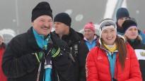 Lukašenko komanda triumfē biatlona stafetē