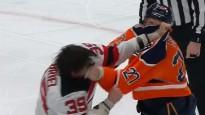 NHL vīri sarīko boksa maču un izpelnās stāvovācijas