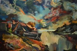 Pašlaik Liepājas muzejā skatāmo Jāņa Gaiļa gleznu muzejs saņēmis dāvinājumā no atraitnes