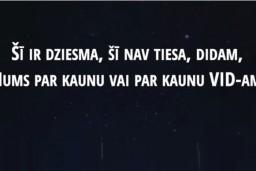 Video: Kaspars Dimiters sacerējis dziesmu VIDam