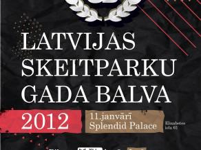 11. janvārī tiks pasniegtas Latvijas skeitparku gada balvas