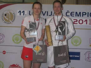 Par Latvijas čempioniem skvošā atkal kļūst Pāvulāns un Mackeviča