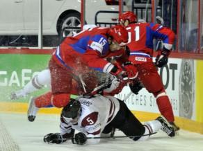 Latvija sāk ar 0:6 pret pasaules čempioni Krieviju