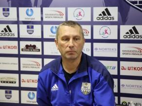 """Pogodins: """"Mūsējie vēl nesen padeva bumbas, bet šodien spēlēja pret """"Riga"""""""""""