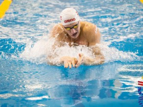 Latvijas komandai 21. vieta 4x100 metru kompleksajā stafetē vīriešiem