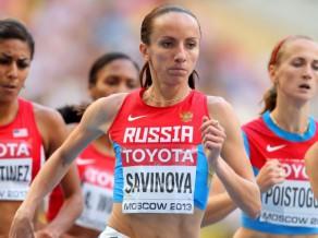 Krievijas skrējējai Savinovai atņemts olimpiskās čempiones tituls un citas medaļas