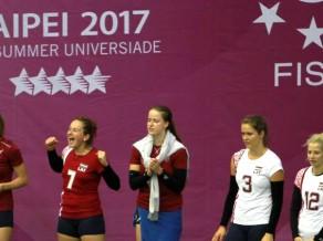 Latvijas volejbolistes zaudē Brazīlijai, mūsu studenti grupā paliek pēdējie