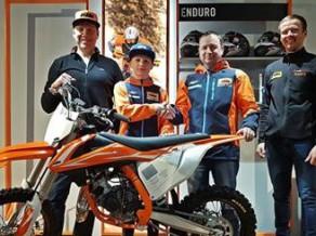 """Motokrosa talants Kārlis Alberts Reišulis tiek pie """"KTM"""" atbalsta"""
