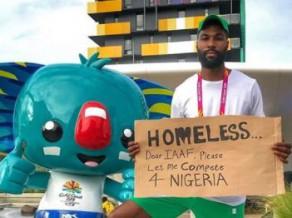 """Startēt nedrīkstošs augstlēcējs protestē kā """"bezpajumtnieks"""""""